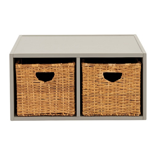 abbeville shelf w/basket