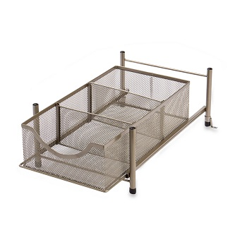 mesh slide out organizer