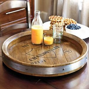 wine barrel server