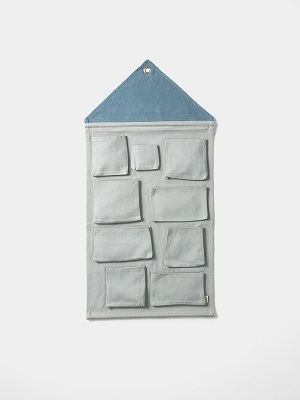 house wall storage pink/blue