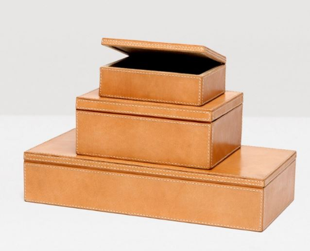 pigeon & poodle leather boxes