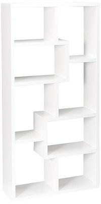 cubed rectangular bookcase
