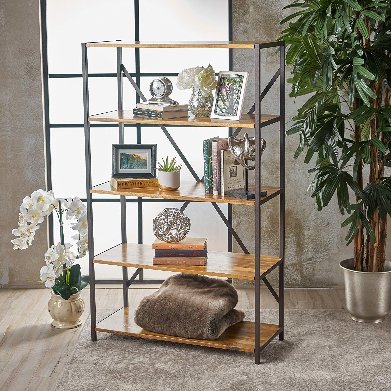 """relee 34"""" natural wood shelf"""