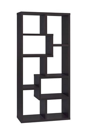 asymmetrical black shelf