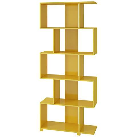 yellow gloss z-shape bookcase