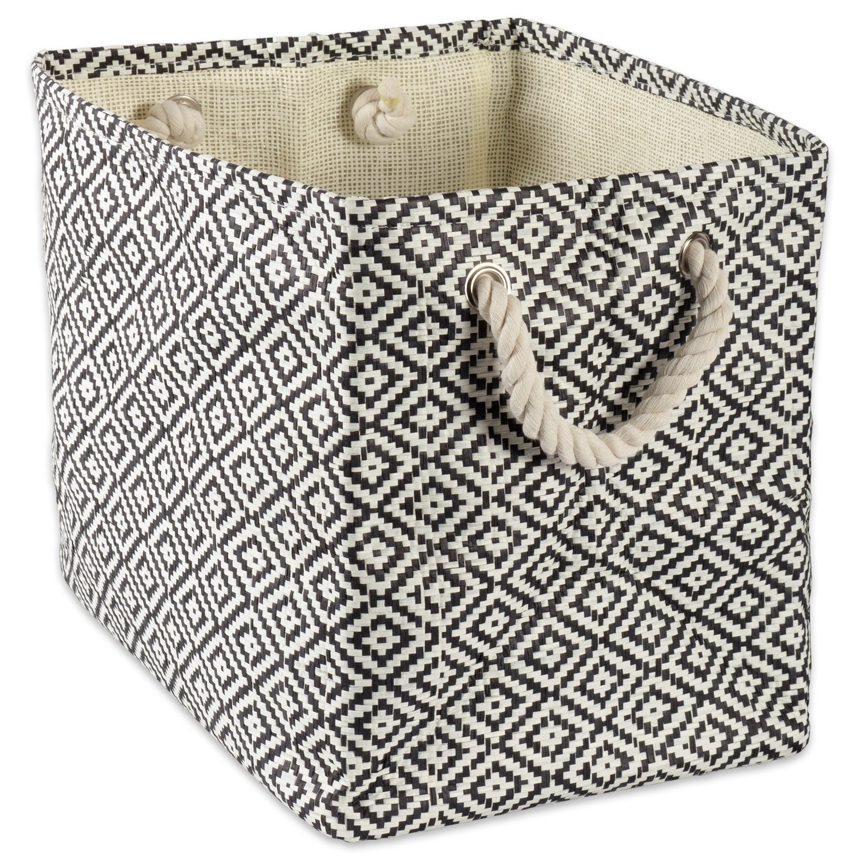 woven paper storage basket