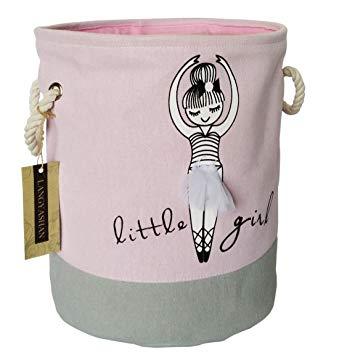 collapsible pink basket