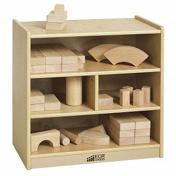 birch 4-cubby storage