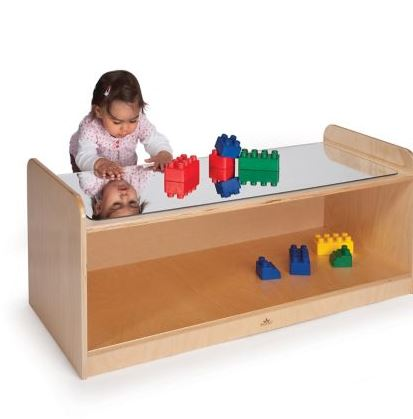 play table w/mirror top