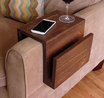arm rest tray table
