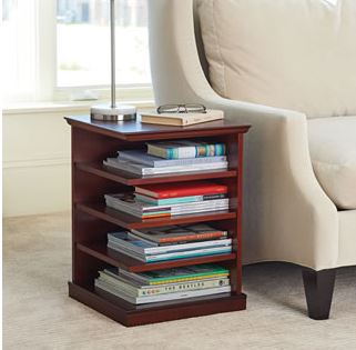organized reader end table