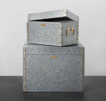 galvanized storage bins