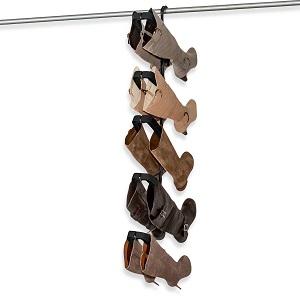 Hanging boot organizer