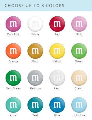 design your own m&m's