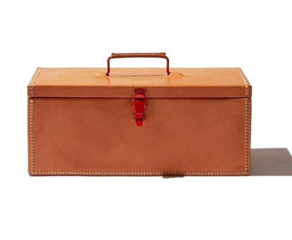 Leather tool box