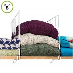 closet wire shelf divider
