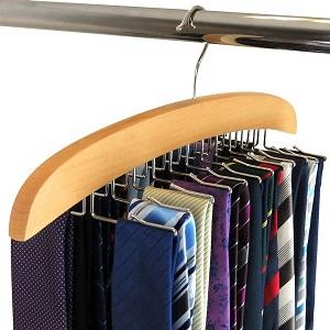 wooden tie rack hanger