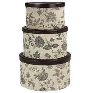 3-piece hatbox set