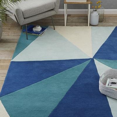 West Elm Kaleidoscope wool rug