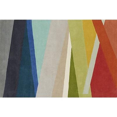 cb2 multi-striped rug