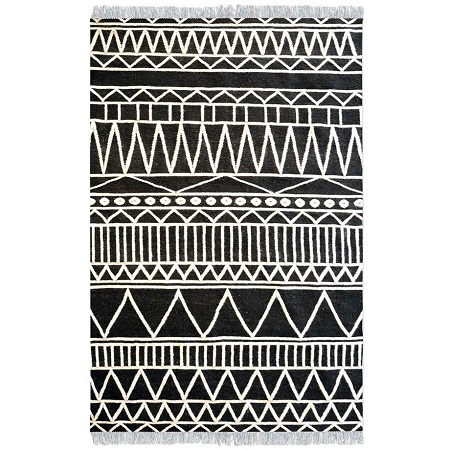 canton tribal design wool rug
