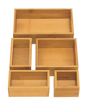 seville bamboo organizers