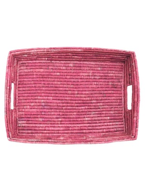 woven serving tray