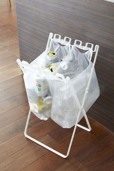 folding trash bag stand