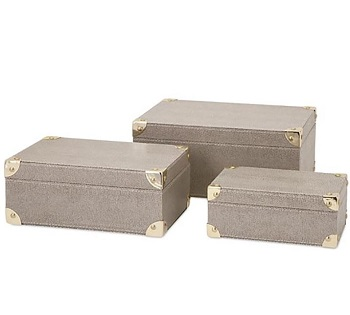shagreen storage boxes