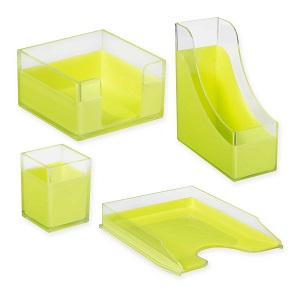 Lime desk accessories