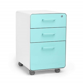 Poppin file cabinet in colors