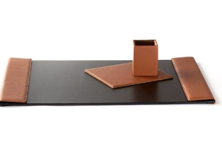 leather desk pad in colors