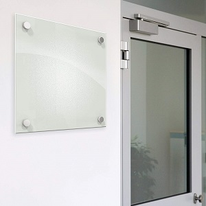 small glass dry erase board