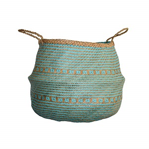 dufmod woven seagrass basket