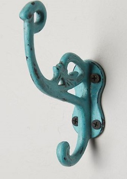 cast iron marais hook in colors