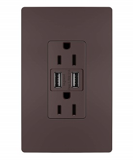 legrand USB outlets in finishes