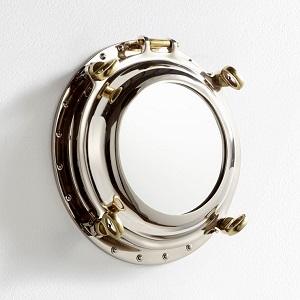 nautical inspired port hole mirror