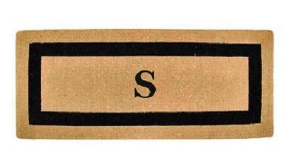 border monogrammed mat