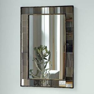 antique tiled mirror