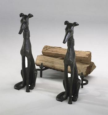 cast iron dog log holder