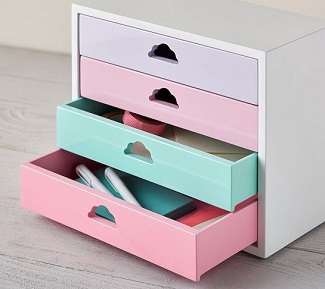 pastel desktop organizer