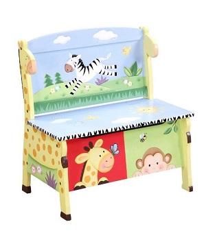 safari wooden storage bench