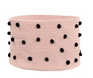 braided circular basket