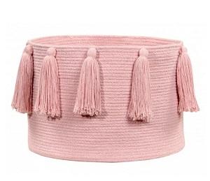 tassel braided basket