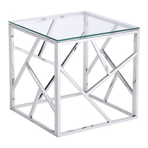 stainless cage side table