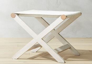 cB2 cowhide stool table