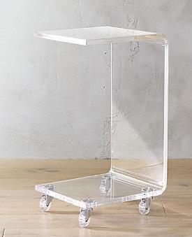 cB2 acrylic side table
