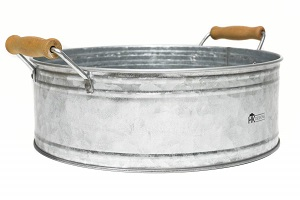farmhouse metal bucket tray