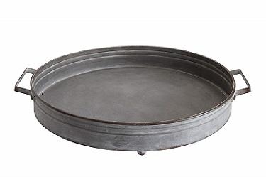 round iron tray
