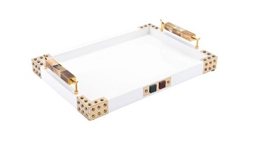 zuo horn & agate tray